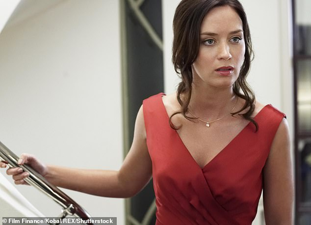 Not blown away: Kyle also branded UK actress Emily Blunt's (pictured) Australian accent in Irresistible as too 'British' and 'a bit toffee', while Jackie insisted that Emily's attempt 'wasn't that bad'