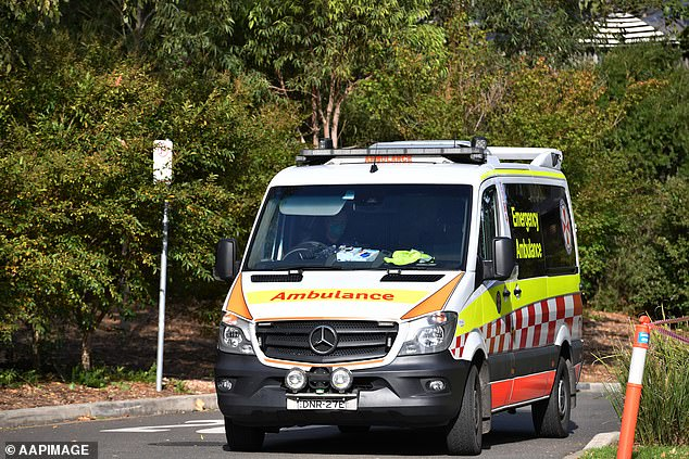 A chopper was called as paramedics desperately tried to treat the man (stock image of NSW ambulance truck)