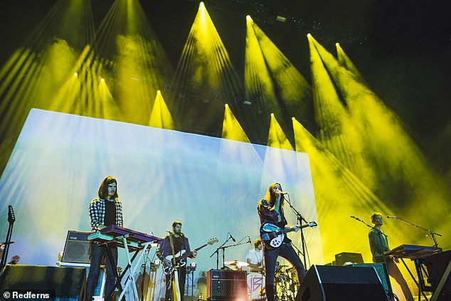 New dates: The tour will begin in Auckland on December 5, before moving onto Sydney, Brisbane, Melbourne, Adelaide, and then finishing up in Perth on December 18. Pictured performing in Manchester in the UK in February 2016