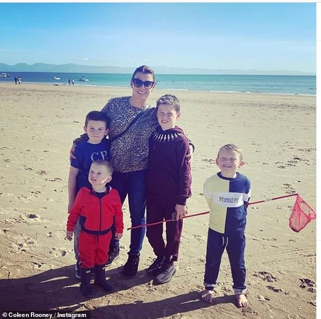 Family: As Rebekah Vardy announced her Dancing On Ice news onTuesday, her WAG war rival Coleen Rooney made sure to put her mark on social media with a family photo