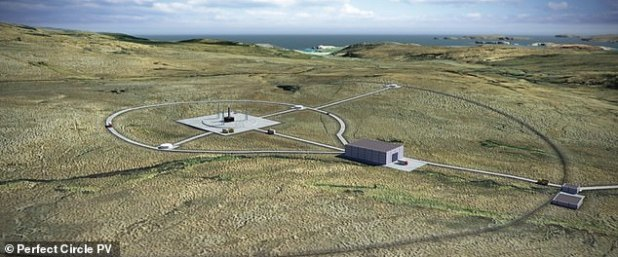 Artist impression of a UK spaceport.  The UK Space Agency selected the first vertical launch site in Sutherland on Scotland's north coast in 2018, which could be ready next year