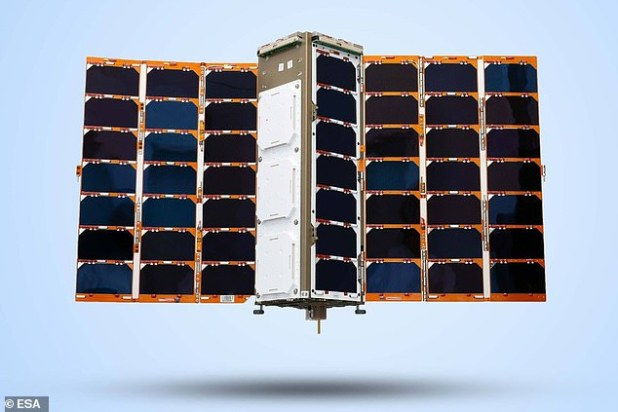 Machine-learning enabled nanosatellites (pictured) were launched on a Russian Soyuz launcher, along with two more nano-satellites that would be used for inter-satellite links.  They are 'no bigger than microwaves'