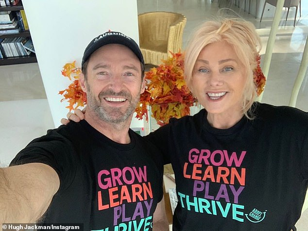 Speaking out: Deborra-Lee Furness addressed long-running rumours husband Hugh Jackman is 'gay' during her appearance on Anh's Brush with Fame on Tuesday