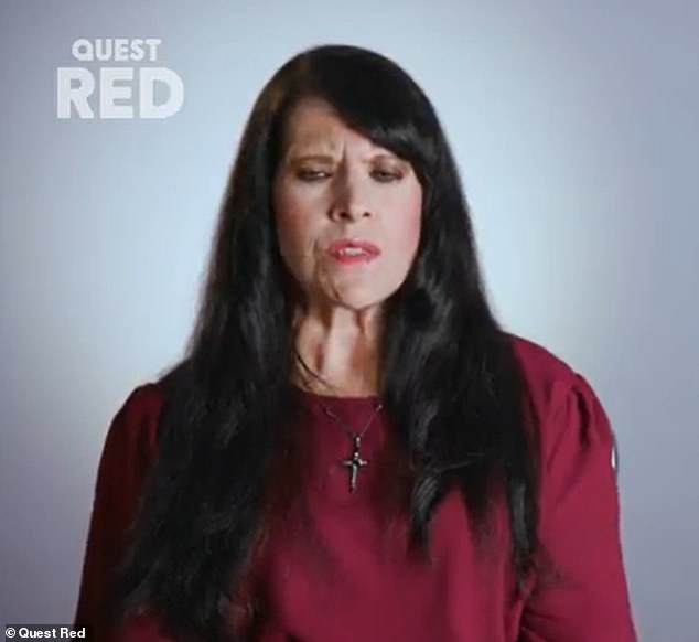In tonight's episode of the Quest Red show, Dr Brad Schaeffer, of New Jersey, is visited by American patient Susan (above), 52, who admits she's been left in constant agony for 30 years thanks to her crooked foot