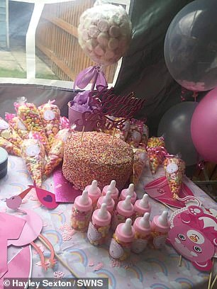 When Hayley (pictured at her baby shower) called her family to let them know, they were shocked: 'I was in shock, all my family were. I called my mum to tell her and she didn't believe me'