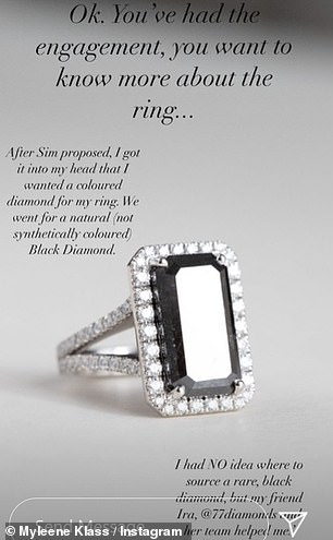 Design: Asked why the couple decided to design the ring together, Myleene replied: 'Sim's an awesome designer