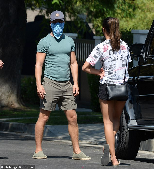 Mandatory in California:Derek and Hayley protected themselves and others from the coronavirus by wearing masks