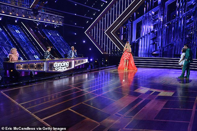 Top 13 next! The six-time Mirror Ball Trophy winner replaced Len Goodman as judge of the 29th season of Dancing With the Stars - airing Mondays on ABC - alongside Carrie Ann Inaba and Bruno Tonioli (pictured Monday)