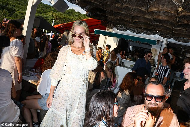 Pricey: Packages typically cost between $10,000 to $25,000 for up to 18 people for three days and have sold out through the end of the season (pictured: Molly Sims in 2019)
