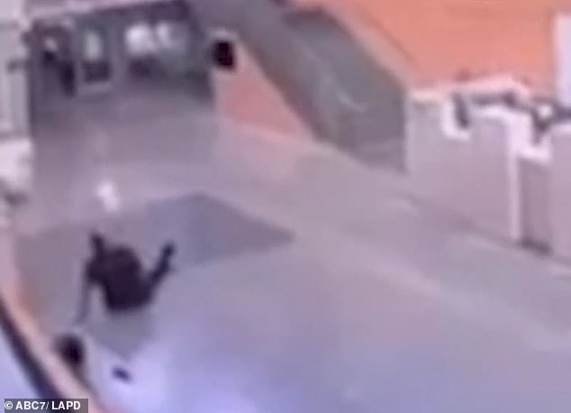 The assailant managed to get away as the desk officer remained on the ground