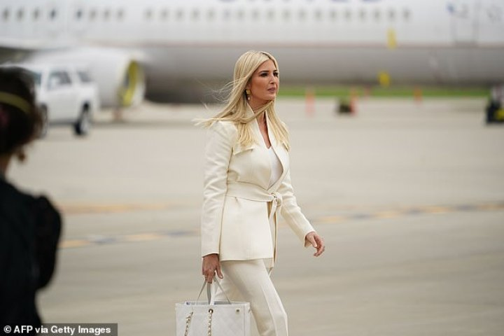 Ivanka Trump at the Cleveland airport; she will watch her father in Tuesday's debate