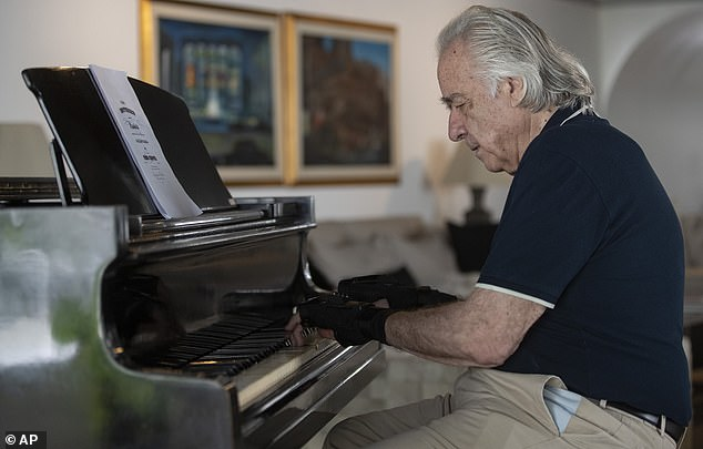 Reverse: Martins is considered an incredibly skilled pianist, but he began battling health problems in 1965 after suffering nerve damage to his arm from a football injury.