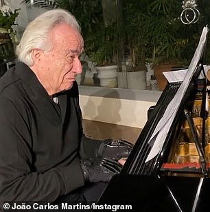 He has now shared a poignant video of himself crying for joy as he performs music by Bach