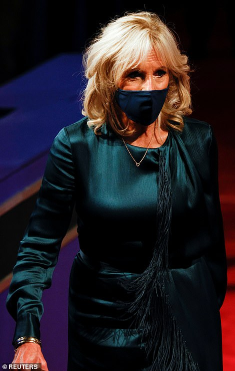 Style showdown: While their husbands took to the stage at the first 2020 presidential debate, Melania Trump and Jill Biden went head to head in a battle of fashion, with the two women wearing equally chic, but very different looks for the evening