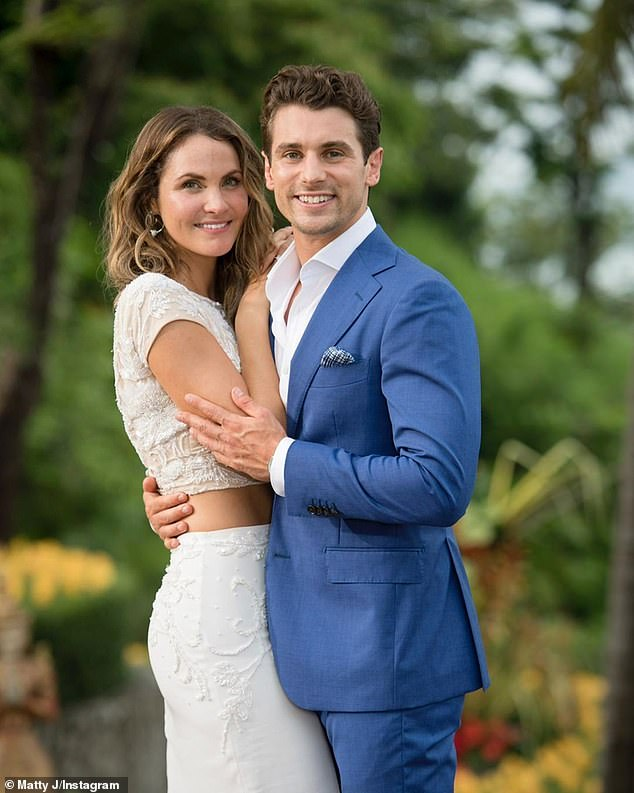 In love: Matty and Laura met and fell in love on season four of The Bachelor three years ago (pictured). They are now engaged
