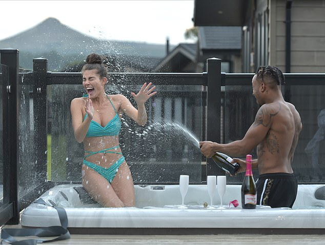 Romance:Rebecca Gormley and her boyfriend Biggs Chris looked as loved-up as ever while enjoying a romantic staycation in Teesside, North Yorkshire, on Tuesday