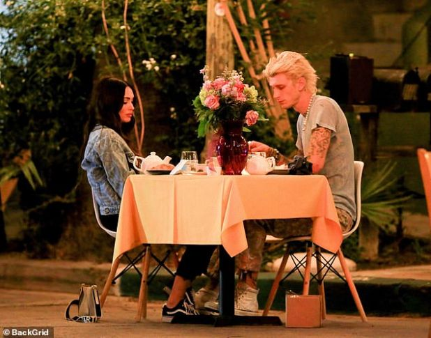 Date Night: A 30-year-old woman was spotted with her girlfriend while eating under the stars in Los Angeles on Tuesday.