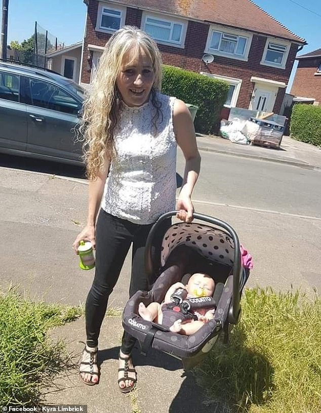 Samantha pictured shortly after giving birth to her daughter Lilah. After visiting the doctor with what she thought was a chest infection, Samantha has been told she may now have just months to live