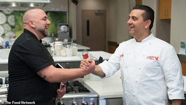 'I'm going to need him to force me to get back into it': The Big Time Bake host's rival on the Food Network show Buddy vs. Duff, Duff Goldman (L), was one of the first people he heard from after the freak accident