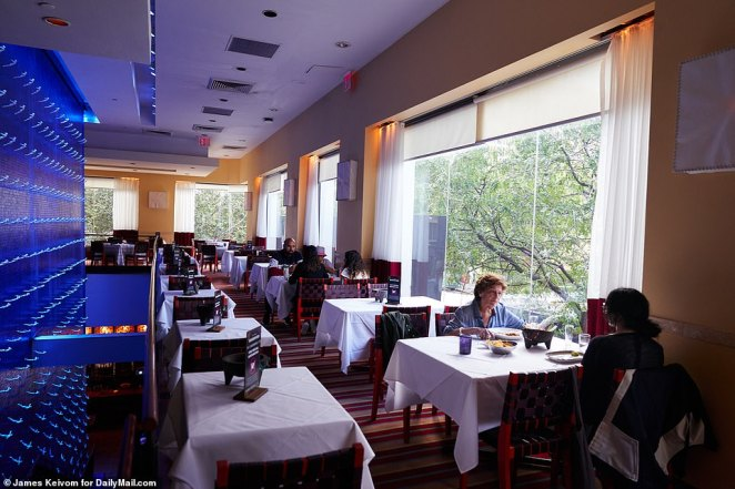 Spaced out diners at Rosa Mexicano restaurant on Wednesday