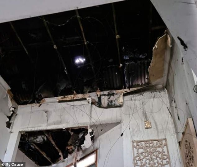 In a second devastating blow for the family, Mrs Barrett's insurance doesn't cover house fire because she was paying two policies on her car instead of one on her house (pictured)