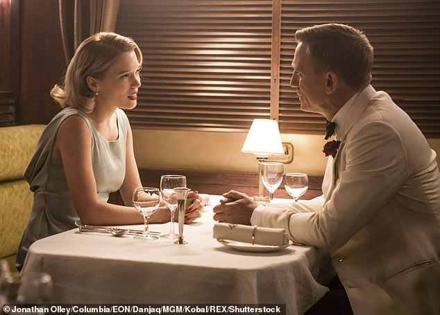 Love is in the air! No Time To Die star Lea Seydoux has described her character's relationship with James Bond as 'a modern love story' (pictured in 2015's Spectre)
