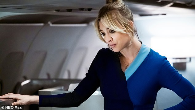 Book Based: The Flight Attendant is based on the best-selling novel of the same name written by author Chris Bohjalian and published in 2018;  Kaley in picture