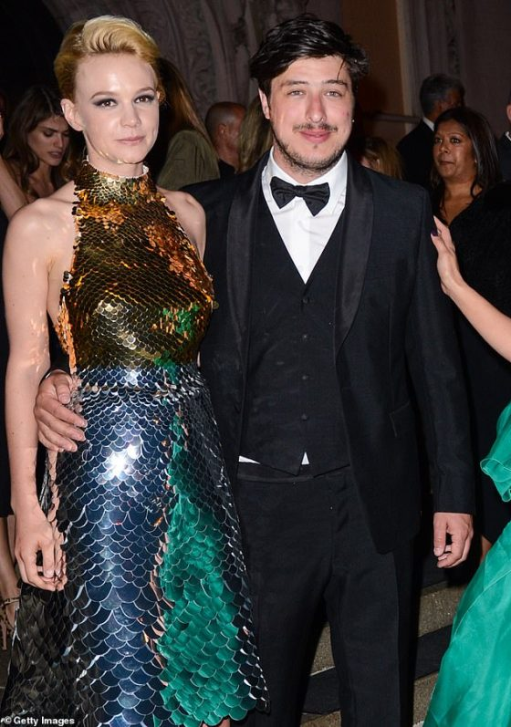 First for the family: Thespian shares children Evelyn and Wilfred with husband Marcus Mumford (pictured 2012), and she recently said she is happy with juggling careers and motherhood