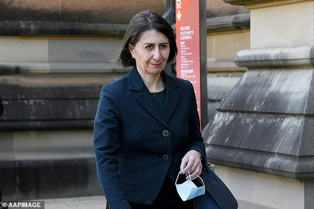 Gladys Berejiklian (pictured) had attempted to freeze pay rises back in May due to COVID-19, to help save the state $3billion