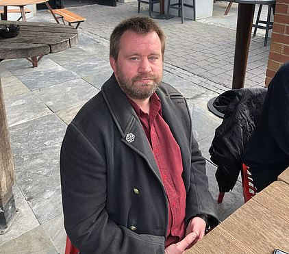 Nathaniel Lawton, 42, was today having a drink with friends outside the town's Swatter's Carr
