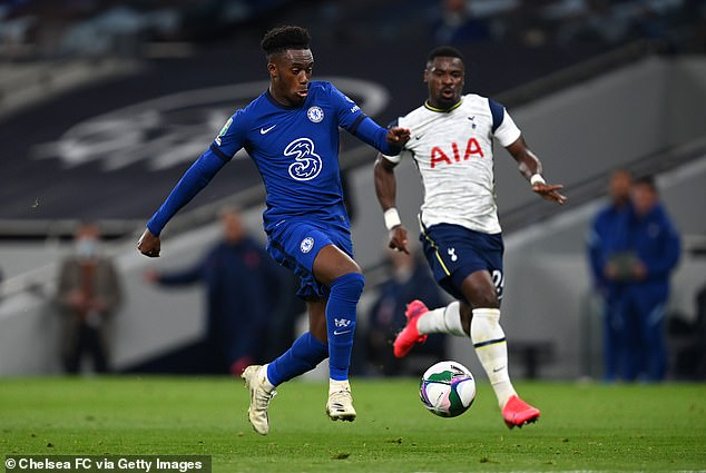 Callum Hudson-Odoi (left) could leave Chelsea for a loan transfer to Bayern before Monday night