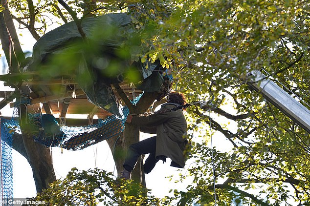 The 1.8 hectare beech wood, one of 108 ancient woodlands that are scheduled to be destroyed along the proposed HS2 route, is considered a habitat of principal importance and home to bats, badgers, tawny owls, and foxes