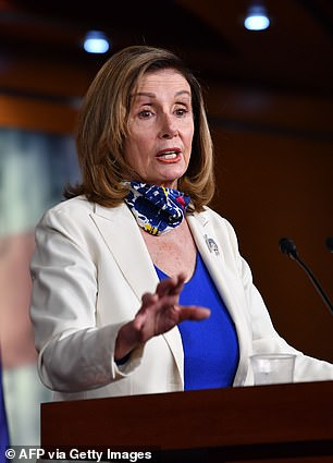 The Speaker of the House, Nancy Pelosi, is second in line, if neither the president nor VP can take over