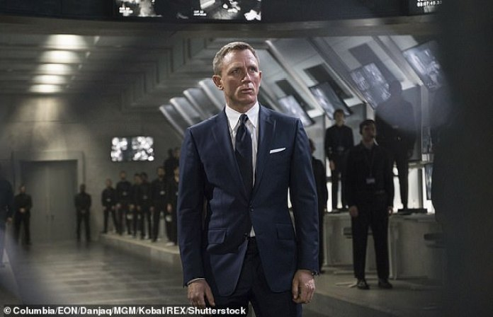 New face: Sources had told The Sun that the singer met with film bosses about taking over from Daniel Craig (above), with odds on him landing the role being slashed from 100/1 to 25/1
