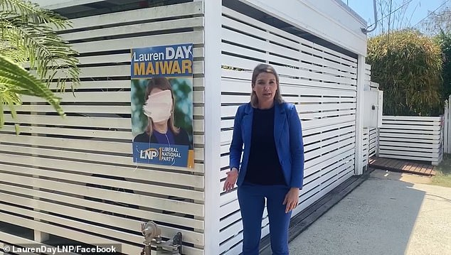 Ms Day posted a Facebook video showing two signs that had been graffitied with paint covering her face. Another sign vandal drew faeces and male genitalia on Ms Day's face, labelling it 'ScoMo's d**k' and labelling her as 'ScoMo's w***e'