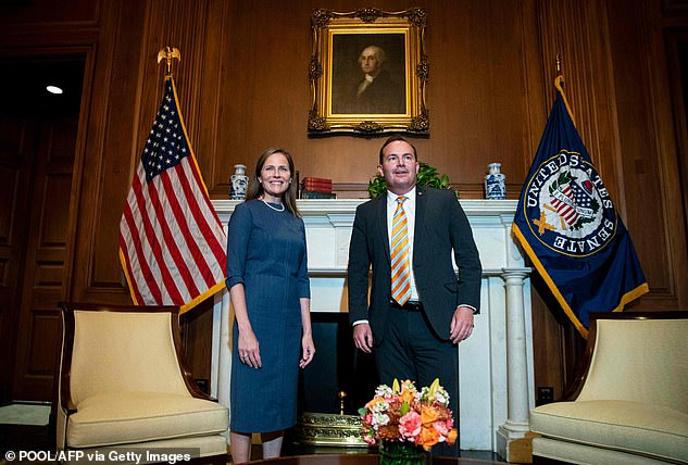 Lee met Supreme Court candidate Justice Amy Coney Barrett on Tuesday