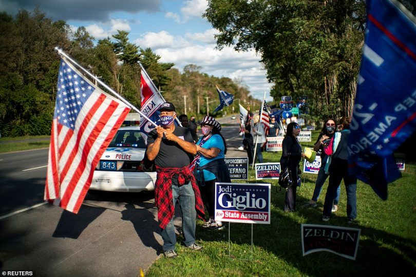 In New York, Trump's supporters were also showing their backing for the ailing president as he fights COVID-19