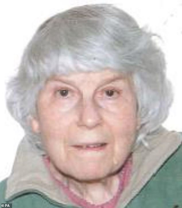 Philip Tarver, 47, has been found guilty of murdering his 86-year-old mother, Angela (pictured), by stabbing her in the heart with a sword and then decapitating her
