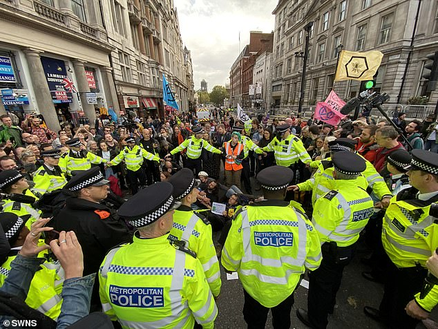 In particular, Home Office sources highlighted the ¿shut down¿ of Westminster by Extinction Rebellion (XR) last summer, as well as similar protests in London¿s Oxford Street last October