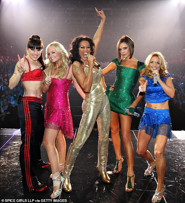 The names just stuck: [L-R in 2007] Mel C was dubbed Sporty Spice, Emma Bunton became Baby Spice, Mel B Scary Spice, Victoria Beckham Posh Spice andGeri Halliwell Ginger Spice