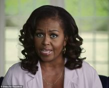 Michelle Obama Calls Trump 'Racist' as she Pleads with Undecided Voters to End 'Four Years of Chaos' and Vote for Biden 'Like Your Lives Depend On It' in Blistering Endorsement Video for Joe Biden