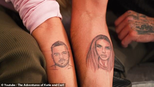 Wow! The besotted couple revealed this week that they have got each other's faces tattooed on their bodies