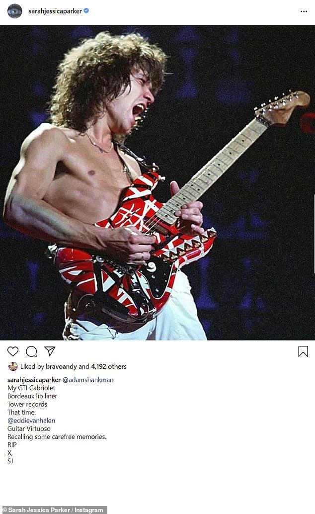 Memories: Sarah Jessica Parker reconsidered her good memories about Van Halen