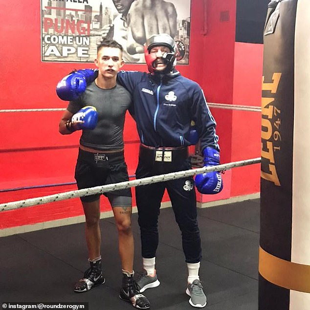 Riccardi's son Leonardo (left) convinced his dad to allow McGregor to train at Round Zero Gym