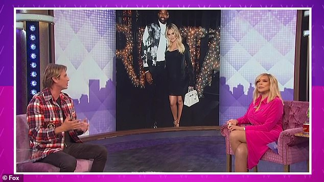It's on: Meanwhile, Kardashian is back with boyfriend Tristan Thompson with whom she shares her two-year-old daughter True.  His friend Jonathan Cheban told Wendy Williams this week that Thompson is a 'good guy'