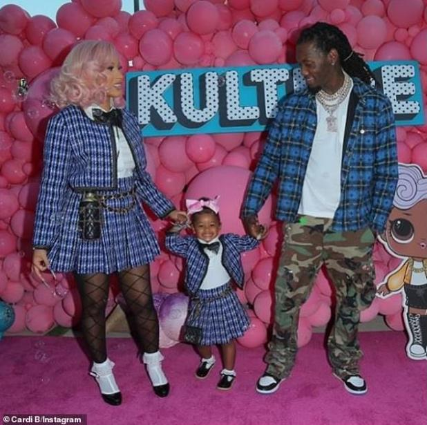 Baby girl: The Hustlers actress and the Taco Tuesday rapper are parents of two-year-old daughter Kulture Kiari Cephus (pictured July 10)
