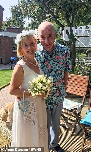 After Bill proposed to his wife again, they remarried in a ceremony in their garden in August 2019.