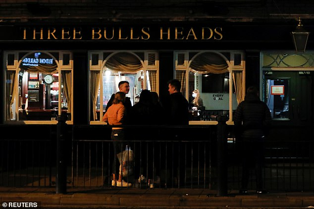 In Newcastle, partygoers were seen enjoying drinks outside a pub as the region braces for further lockdown rules