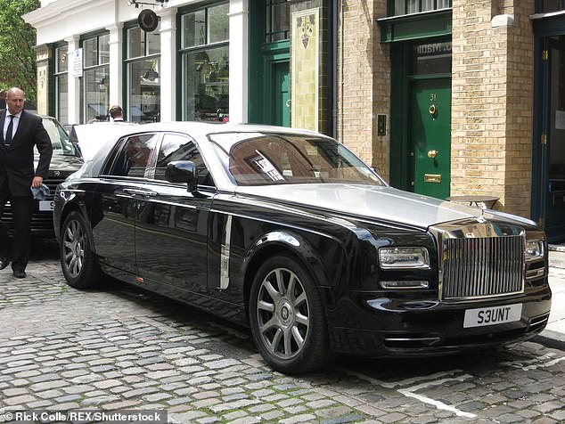 The glow-in-the-dark 'Flying Lady' was optional on all models, including the top-of-the-line Phantom (pictured), previous-generation Ghost, sporty Wraith models, Dawn convertible and Cullinan off - wider