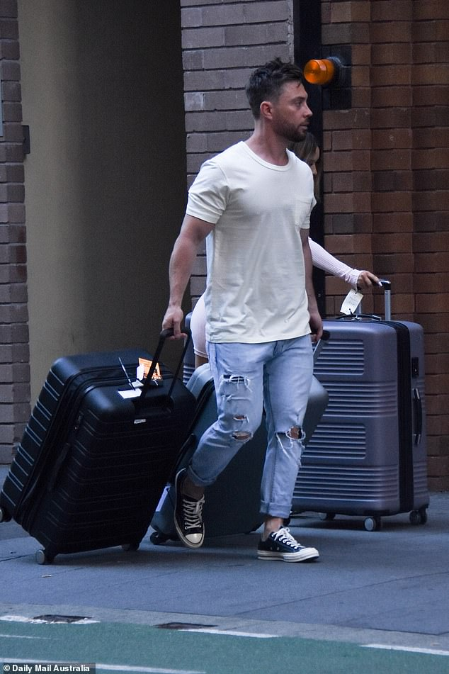 The journey begins: Jason was checked into his aparthotel in Sydney earlier this month